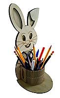Органайзер зайчик для детских принадлежностей карандашница.