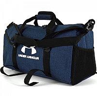 Сумка спортивная дорожная с боковыми карманами и с плечевыми ремнями 50*28*20 см синяя