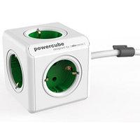 Разветвитель Allocacoc PowerCube Extended с кабелем 1.5М GREEN EU розетка, 3680W, 16A-250V