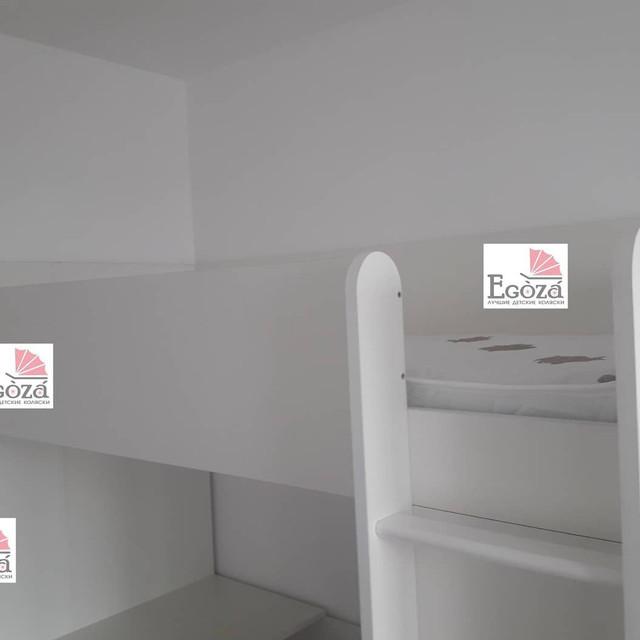 Кровать чердак Polini Simple со столом и шкафом