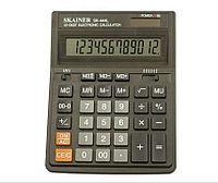 """Калькулятор настольный SKAINER """"444L"""" 12 разрядный черный"""