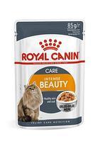 Для поддержания красоты шерсти в желе, Royal Canin  Intense Beauty, пауч 85гр.