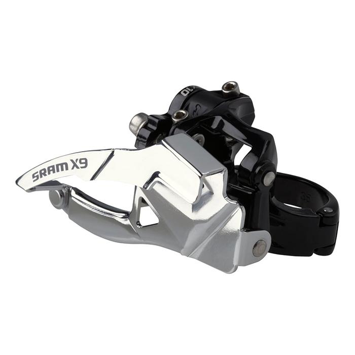 Sram  передний переключатель  X-9 3x10 Low Clamp 31.8/34.9 Top Pull