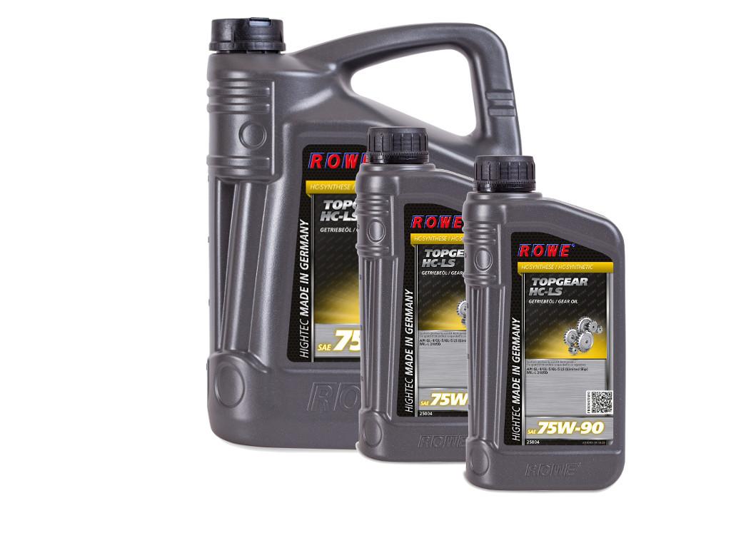 Трансмиссионное масло ROWE HIGHTEC TOPGEAR SAE 75W-90 HC-LS, 7 литров (5L + 2L)