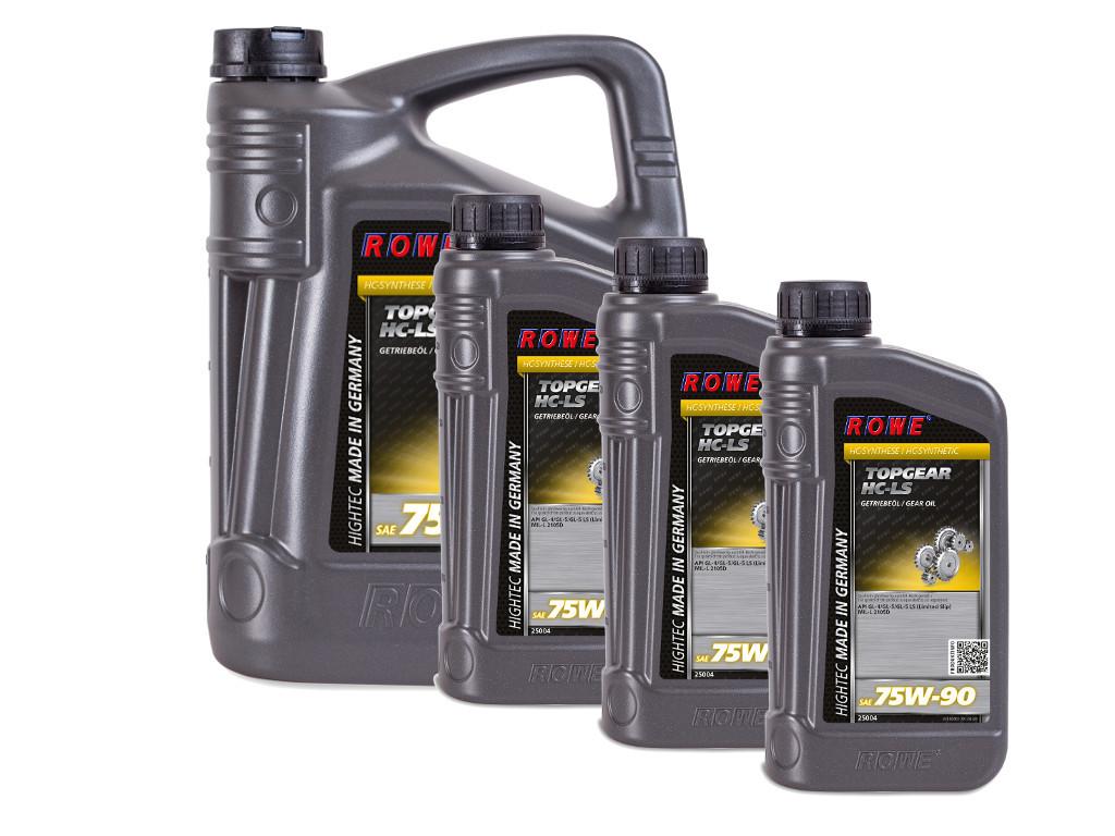 Трансмиссионное масло ROWE HIGHTEC TOPGEAR SAE 75W-90 HC-LS, 8 литров (5L + 3L)