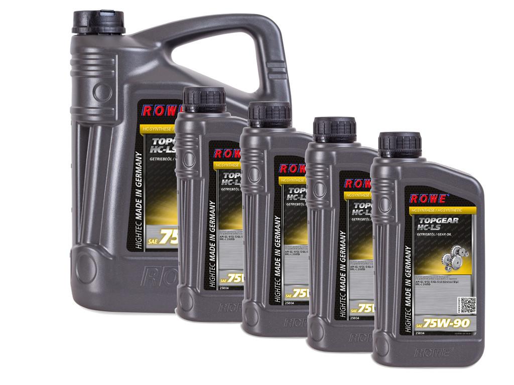 Трансмиссионное масло ROWE HIGHTEC TOPGEAR SAE 75W-90 HC-LS, 9 литров (5L + 4L)