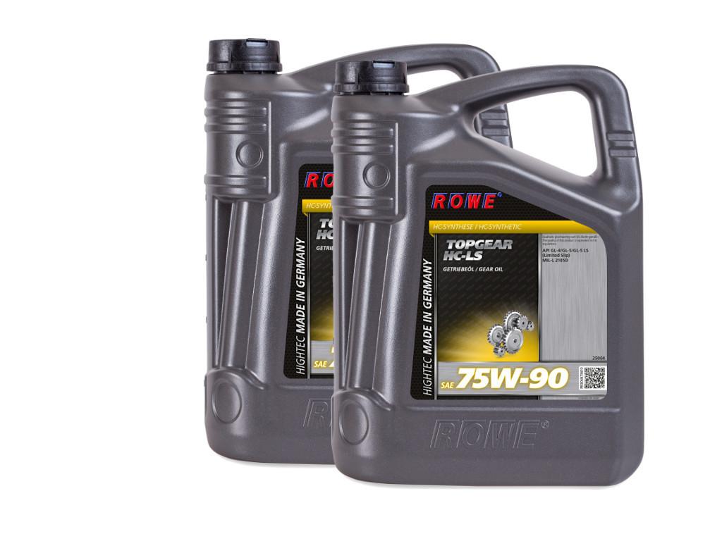 Трансмиссионное масло ROWE HIGHTEC TOPGEAR SAE 75W-90 HC-LS, 10 литров (2 x 5L)
