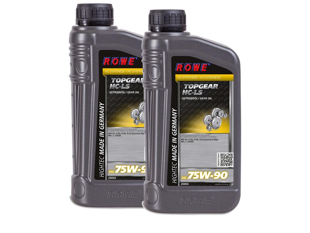 Трансмиссионное масло ROWE HIGHTEC TOPGEAR SAE 75W-90 HC-LS, 2 литра (2 x 1L)