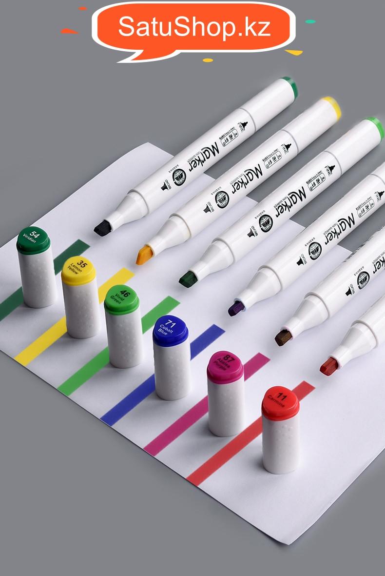 Скетч Маркеры 80 цветов СКЕТЧБУК в подарок профессиональные для скетчинга двусторонние