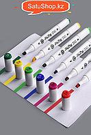 Скетч Маркеры 80 цветов профессиональные для скетчинга для художников двусторонние