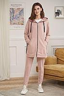 Женский осенний трикотажный розовый спортивный спортивный костюм Fantazia Mod 3880 50р.