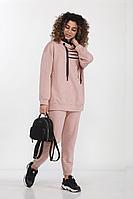Женский осенний трикотажный розовый спортивный костюм DOGGI 2750 светло-розовый 42р.