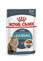 Для выведения шерсти в соусе, Royal Canin Hairball, пауч 85гр.