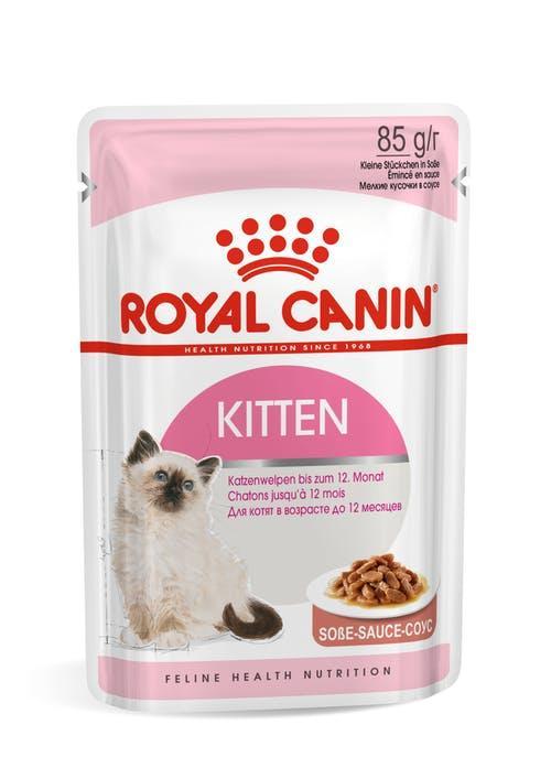 Для котят в соусе, Royal Canin Kitten, пауч 85гр.