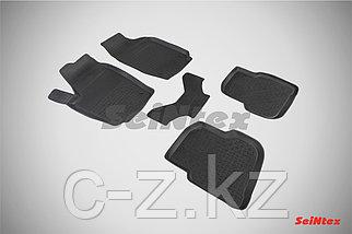 Резиновые коврики с высоким бортом для Volkswagen Polo Sedan 2010-2019