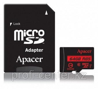 Карта памяти Apacer АР64GMCSX10U5-R MicroSDXC 64GB с адаптером SD