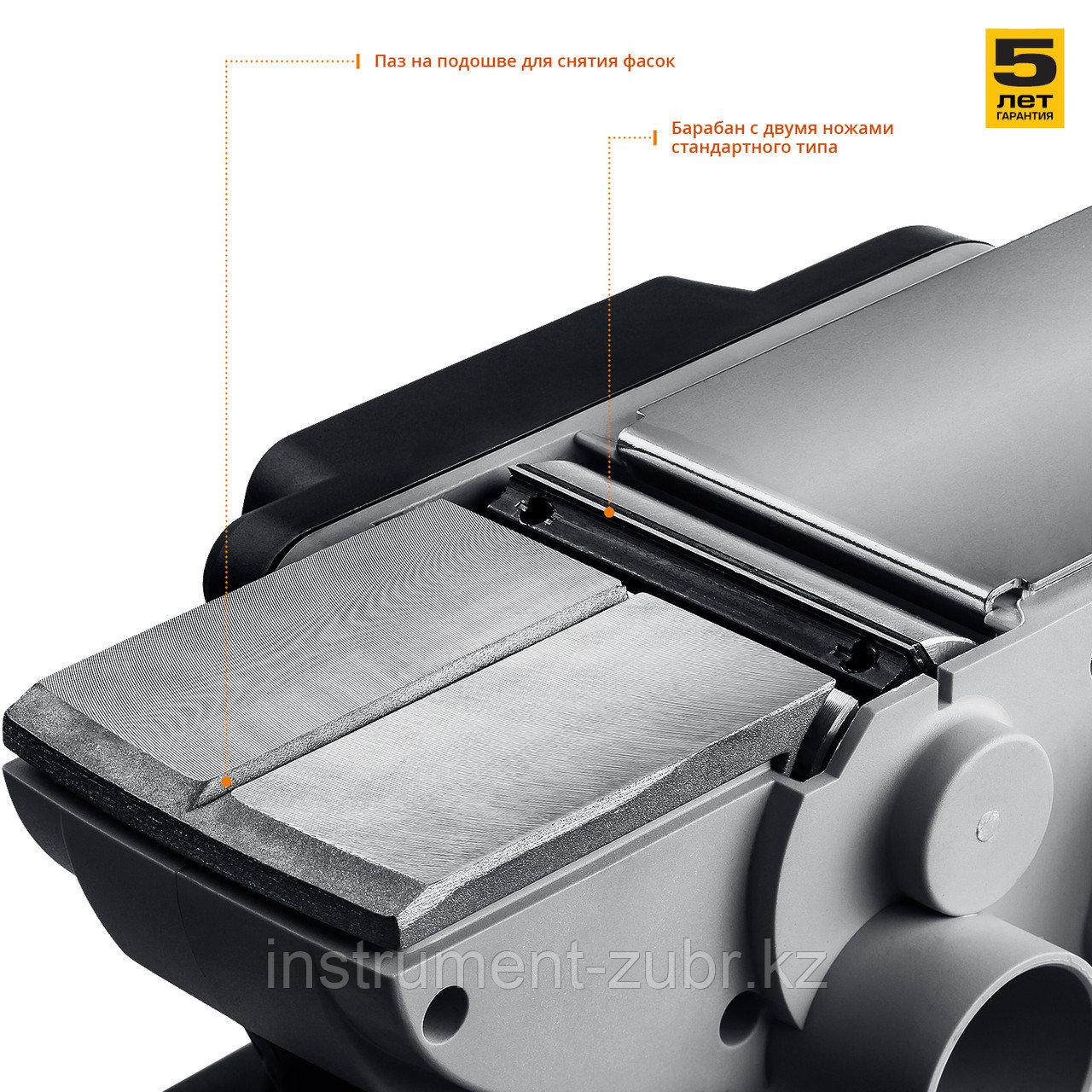 Рубанок электрический (электрорубанок), ЗУБР ЗР-750-82, глубина 2.0 мм, 82 мм, 16 000 об/мин, 750 Вт - фото 4