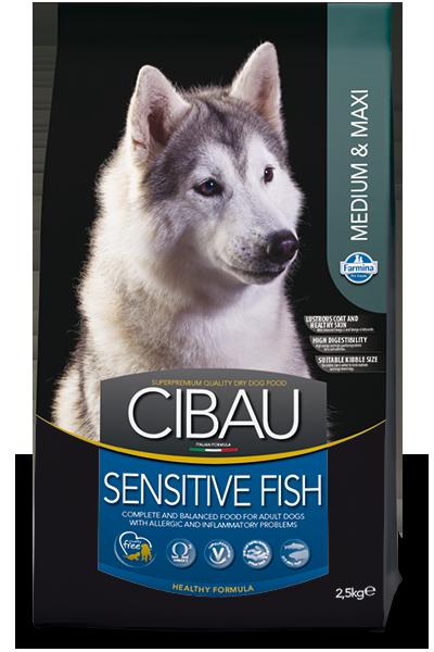 Sensitive Medium&Maxi для собак средних и крупных пород с рыбой, Cibau, уп. 2,5кг.