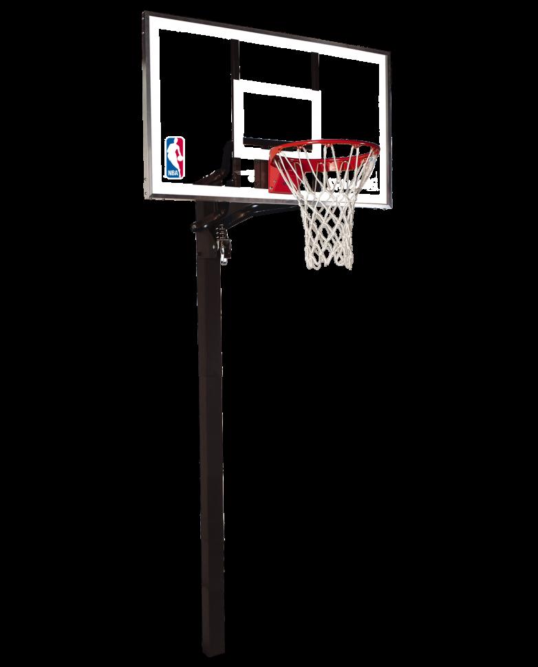 Стационарная баскетбольная стойка Spalding 54 Gold In-Ground 88365CN