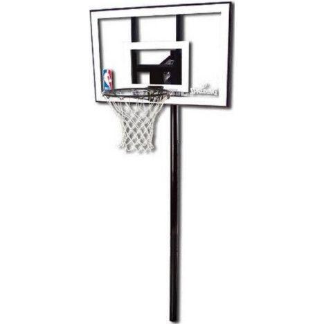 Стационарная баскетбольная стойка Spalding 44 Silver In-Ground 88596CN