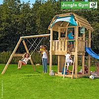 Детский городок Jungle Gym Barn + SwingModule Xtra