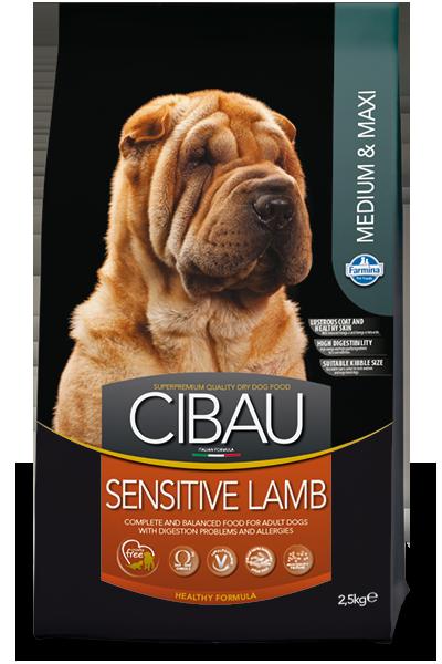 Sensitive Medium&Maxi для собак средних и крупных пород с ягненком, Cibau, уп. 2,5кг.