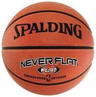 Мяч баскетбольный Spalding NBA Neverflat с технологией удержания воздуха 63-803 размер 7