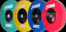 Диск олимпийский тяжелоатлетический для соревнований IWF DHS цветной (0,5 кг)