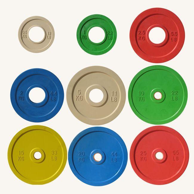 Диск олимпийский Johns 71025 цветной обрезиненный (0,5 кг)