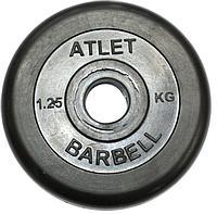 Диски обрезиненные, 26 мм Atlet 1,25кг (Д-26-31-50-мм)