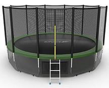 Батут EVO Jump External 16ft + Lower net (Зеленый)