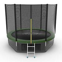 Батут EVO Jump External 10ft + Lower net (Зеленый), фото 1