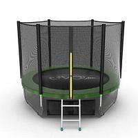 Батут EVO Jump External 8ft + Lower net (Зеленый), фото 1