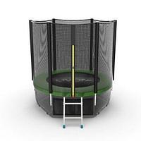 Батут EVO Jump External 6ft + Lower net (Зеленый), фото 1