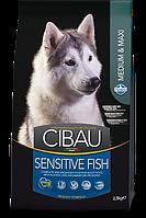 Sensitive Medium&Maxi для собак средних и крупных пород с рыбой, Cibau, уп. 12кг.
