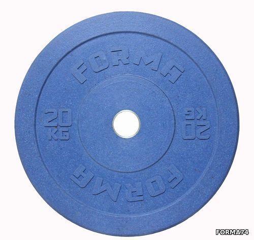 Диск олимпийский бамперный Forma цветной (10 кг)