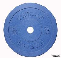 Диск олимпийский бамперный Forma цветной (10 кг), фото 1