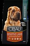 Sensitive Medium&Maxi для собак средних и крупных пород с ягненком, Cibau, уп. 12кг.