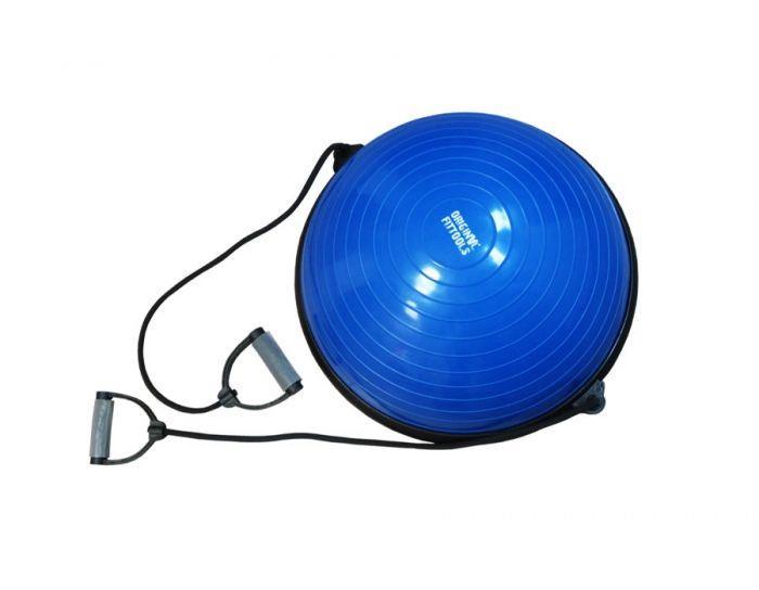 Полусфера гимнастическая надувная с эспандерами и насосом Original Fit.Tools