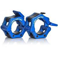 Замки олимпийские Lock-Jaw с фиксаторами - синий (пара) LJC-PRO-BLU