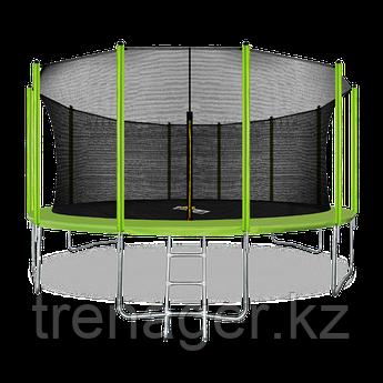 Батут ARLAND 16 ft inside с внутренней страховочной сеткой и лестницей (Light green)