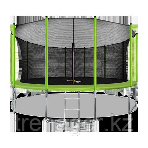 Батут ARLAND 16 ft inside с внутренней страховочной сеткой и лестницей (Light green) - фото 1