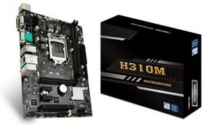 Материнская плата S-1151 Biostar H310MHG <mATX, 2xDDR4, VGA, DVI, HDMI, COM port, USB2.0x6,USB3.1x4>