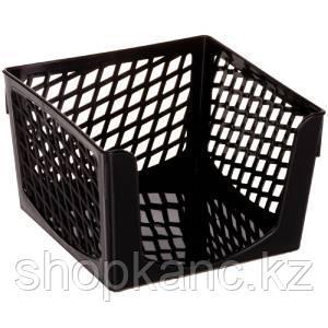 """Подставка для бумажного блока OfficeSpace """"Simple"""", 9*9*7, черная"""