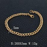 """Браслет """"Golden"""" позолота 18К, фото 2"""