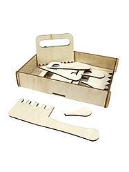 """Woodland Деревянная игрушка Набор для песка """"Гребешки"""""""