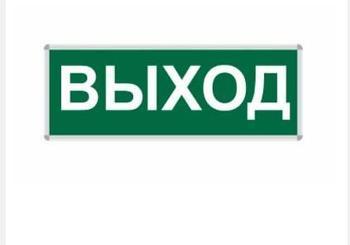Пиктограмма ВЫХОД 330*120 NEW