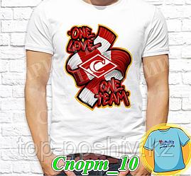 "Футболка с принтом ""Спорт"" - 10"