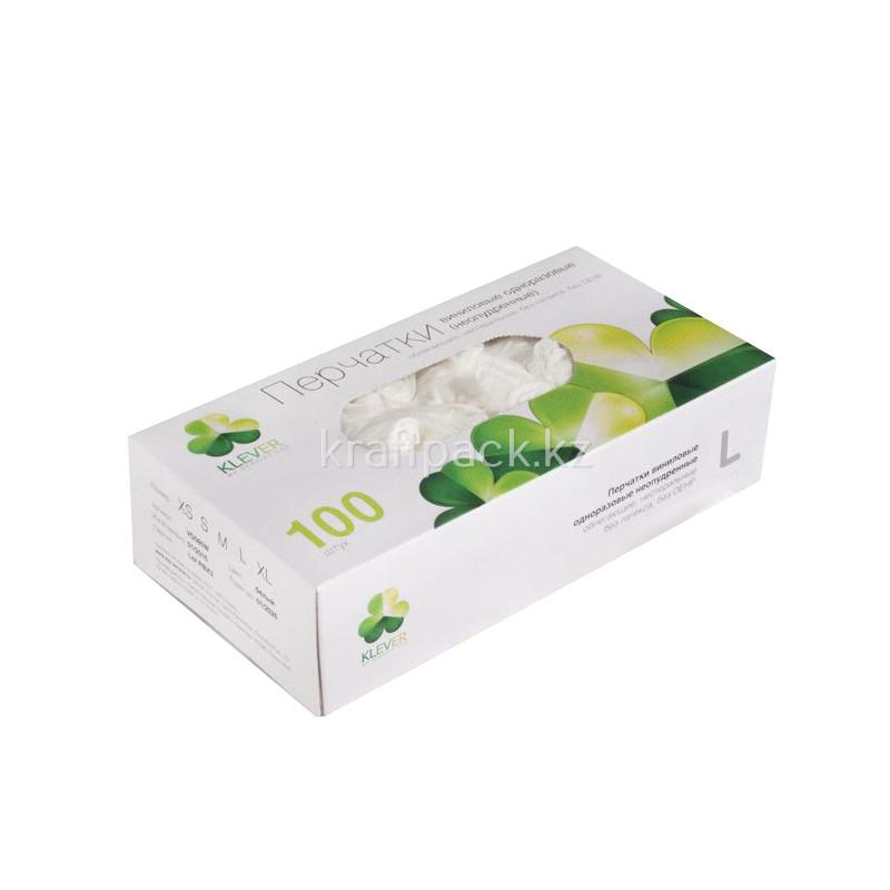 Перчатки виниловые неопудренные L (100/1000) (1 упаковка - 100шт/50пар)