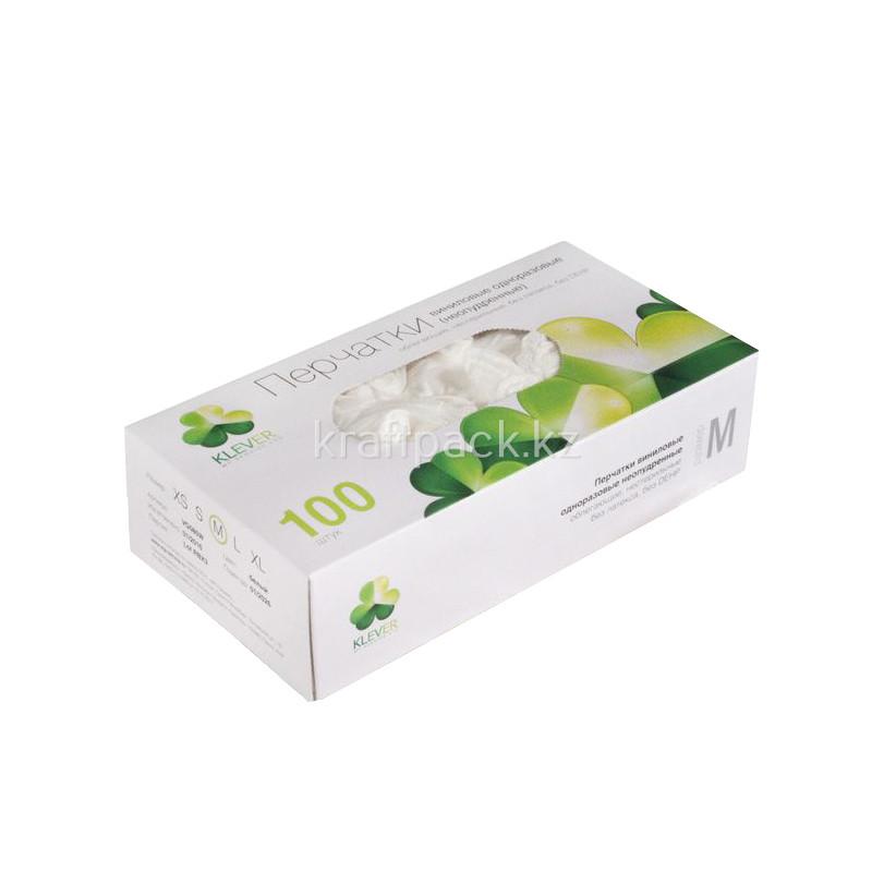 Перчатки виниловые неопудренные M (100/1000) (1 упаковка - 100шт/50пар)